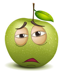 sad apple smiley