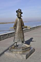 Estatua escritor Anton Chekhov. Tomsk, Rusia