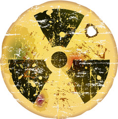 nuclear warning, grungy radiation sign