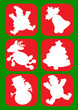 Christmas Character Silhouettes / icons