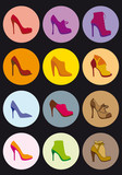 shoe set, vector