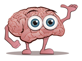 Brain Character with Hands and Feet