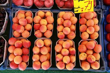Aprikosen auf dem Markt