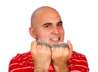 Man with the chain