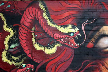 San Francisco - fresque à Ashbury-Ashbury