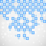 Symmetry snow pattern.Vector poster