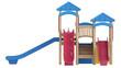 Playground equipment with slides