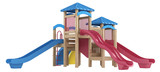 Playground equipment with slides