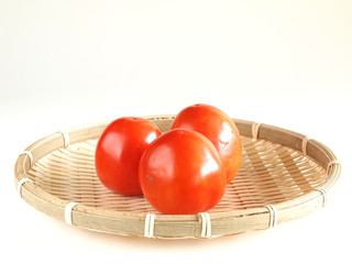 tomatoes in the bamboo basket