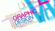 Graphic Design solutions colors word tag cloud animation