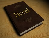 3D Buch - Moral poster