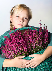 Portrait of young beautiful teen girl
