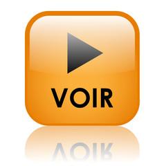 """Bouton Web """"VOIR"""" (regarder lire lecture en direct clip vidéo)"""