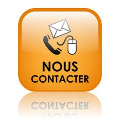 Bouton Web NOUS CONTACTER (service clients coordonnées contact)
