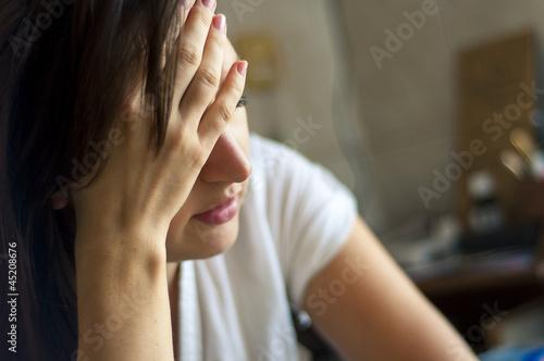 Leinwandbild Motiv Headache