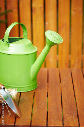 Autumn garden tools background