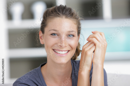 Happy young woman with a lovely smile