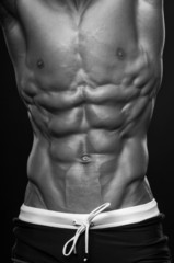 Muscled male torso