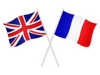 Drapeaux de l'alliance franco-anglaise