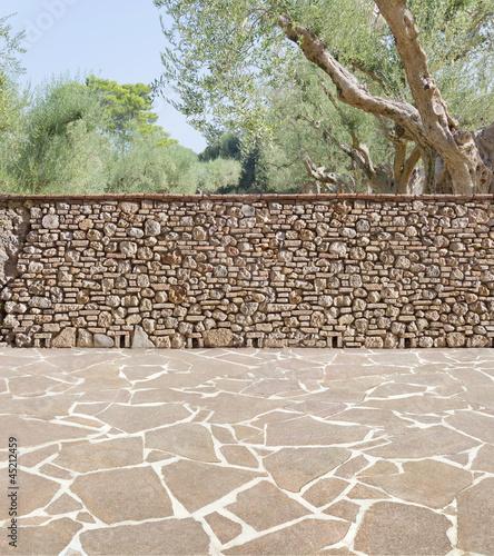 Terrasse in der Toskana von poser lizenzfreies Foto