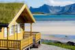 canvas print picture - Ferienhaus auf den Lofoten
