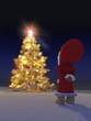 Geschmückter Weihnachtsbaum mit Wichtel 3D