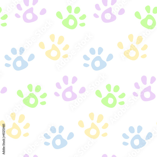 Hand prints pattern