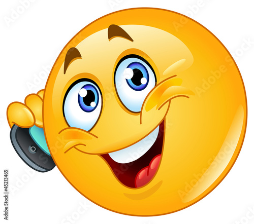 Emoticon with cell phone
