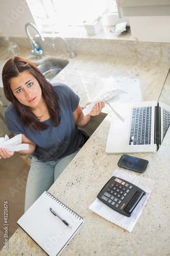 Woman feeling financial pressure