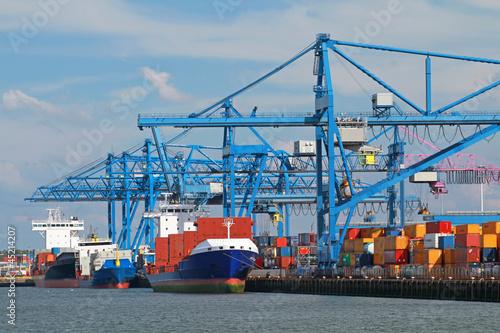 Leinwandbild Motiv Hafen Rotterdam
