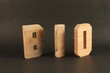 BiO text animation with wooden letter version 3