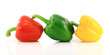 Red,green and yellow bell peppers
