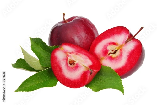 Apfel rot freigestellt - apple red isolated 01