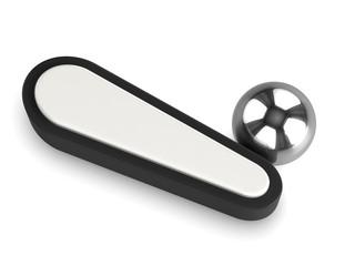 3d Pinball flipper with stainless steel ball