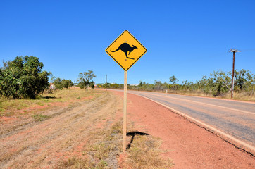 Road Sign in the Australian Outback