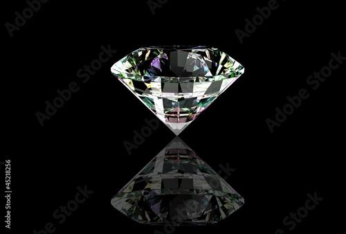 Diamond isolated on black