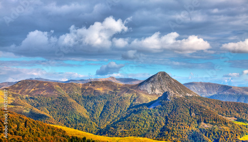canvas print picture The Central Massif
