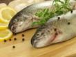 Raw fish, closeup
