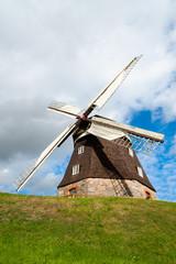 Alte Holländer-Windmühle in Woldegk, Mecklenburg