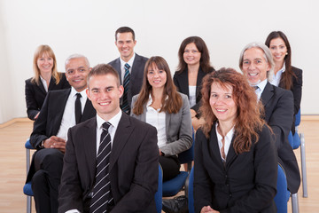 Portrait Of A Business Men And Women In Seminar