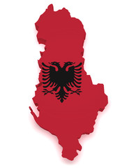 Albania Map 3d Shape