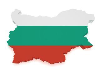 Bulgaria Map 3d Shape