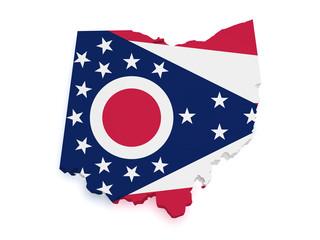 Ohio Map 3d Shape