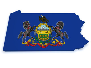 Pennsylvania Map 3d Shape