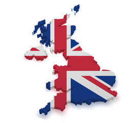 United Kingdom 3d Shape