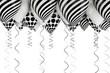 fondo con globos en blanco y negro