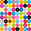 Background with letters, seamless pattern for kids