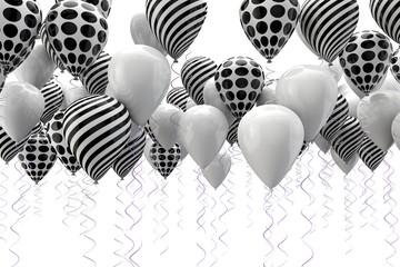 fondo abstracto con globos