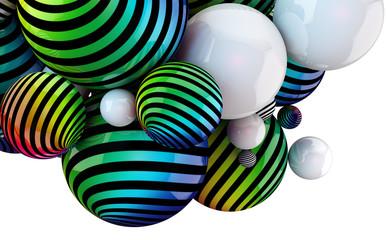 fondo abstracto con pelotas de colores