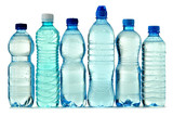 Fototapety Polycarbonate plastic bottle of mineral water isolated on white